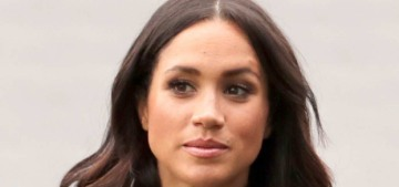 Duchess Meghan changed into a smart black trouser suit in Dublin Day 2