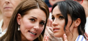 Duchess Kate & Duchess Meghan attended Wimbledon together on Saturday