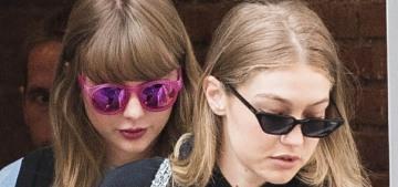 Taylor Swift & Gigi Hadid did an old-school girl-squad stroll in New York