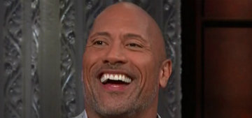 The Rock's daughter tells him she likes his 'brown boobies'