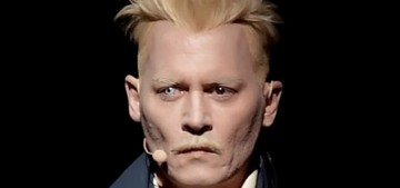 Johnny Depp came to Comic-Con in his 'Crimes of Grindelwald' character