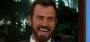 Justin Theroux stops by Jimmy Kimmel Live, doesn't talk about his 'divorce' at all