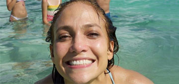 Jennifer Lopez celebrates her 49th birthday at the beach