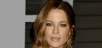Kate Beckinsale does goat yoga for her 45th birthday