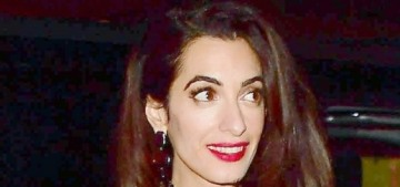 Amal Clooney steps out in Monse, with George, for dinner in Como, Italy