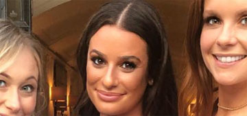 Lea Michele had a garden engagement party over the weekend