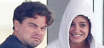 Leo DiCaprio made gross faces on a yacht in Antibes with his 21-year-old girlfriend