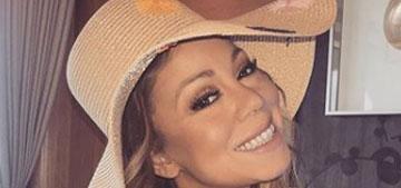 Mariah Carey poses on a yacht with her on-again boyfriend Bryan Tanaka