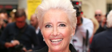 """Emma Thompson looks vaguely Annie Lennox-ish these days"" links"