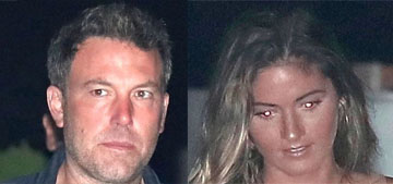 Ben Affleck took a 22 year-old model out to dinner at Nobu, did he split with Lindsay?