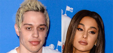 Ariana Grande in a metallic mini dress with Pete Davidson at the VMAs: mismatched?