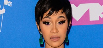 Cardi B in amethyst Nicolas Jebran at the VMAs: genuinely lovely?