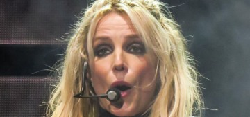 Britney Spears trots out her fake British accent during a concert in London