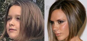 Victoria Beckham's daughter Harper, 7, got a haircut just like her mom