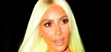 Kim Kardashian was gifted a neon lemon-lime Mercedes SUV to match her wig