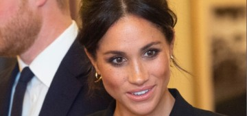 Duchess Meghan wore a Judith & Charles tuxedo dress to 'Hamilton' event