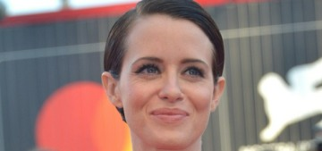 Claire Foy in Valentino at the Venice Film Festival: gorgeous & vintage?