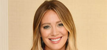 Hilary Duff hyped the new baby to her son: 'I'm going to chase you with her dirty diapers'