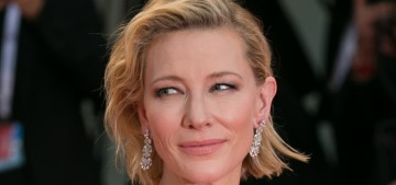 Cate Blanchett in Armani at the Venice Film Festival: gorgeous or overworked?