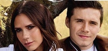 Victoria Beckham appears on the British Vogue cover without David, after all that drama