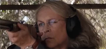 The new 'Halloween' trailer makes Jamie Lee Curtis look like a bad-a** right?