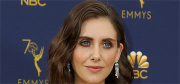 Alison Brie in cutout Miu Miu at the Emmys: not that great but cute anyway?