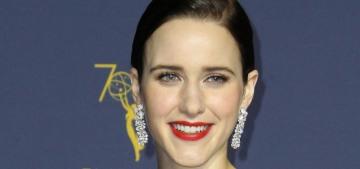 Rachel Brosnahan in ombre Oscar de la Renta: beautiful or sad?