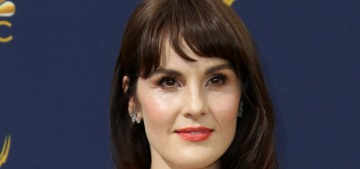 Michelle Dockery got bangs & a bad Carolina Herrera gown: worst of the Emmys?