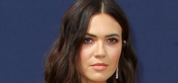 Mandy Moore in custom, bronze Rodarte at the Emmys: stunning or basic?