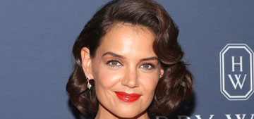 Katie Holmes in Zac Posen at a Harry Winston event: old Hollywood glam?