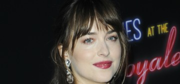 Dakota Johnson in pink Gucci at the LA 'El Royale' premiere: twee or lovely?