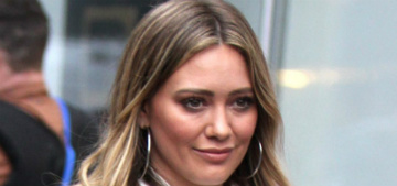 Hilary Duff, 9 months pregnant, tells paparazzo to quit following her