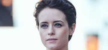 Claire Foy in Stella McCartney & Rosetta Getty: stunning or basic?