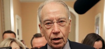 Chuck Grassley & Republican men are too chickens–t to question Dr. Ford directly