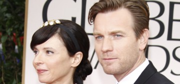 Ewan McGregor & his estranged wife are beefing about spousal support