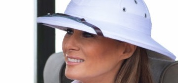 Melania Trump got huffy & indignant when criticized for wearing a colonialist costume