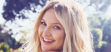 Kate Hudson shared the first photo of her daughter Rani, all swaddled up