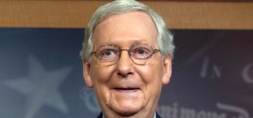 Mitch McConnell thanks 'these clowns' (aka rape victims) for protesting Kavanaugh