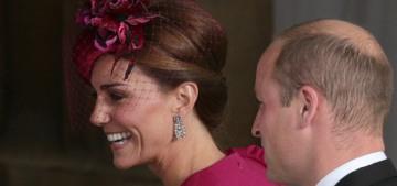 Duchess Kate wore cranberry McQueen to Princess Eugenie's wedding