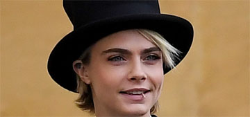 Cara Delevingne wore a top hat and tails to Eugenie's wedding, as one does