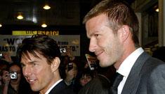 Tom Cruise David Beckham bromance: they share everything but Xenu