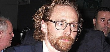 Tom Hiddleston steps out in London for a morose-looking theater celebration
