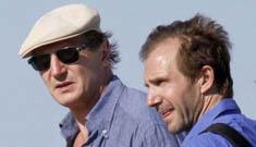 Liam Neeson & Ralph Fiennes: bromance on the beach