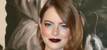 Emma Stone in Louis Vuitton at 'The Favourite' BFI LFF premiere: stunning?