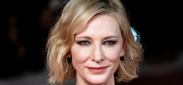 Cate Blanchett in Maison Margiela at the Rome Film Festival: fun drama?