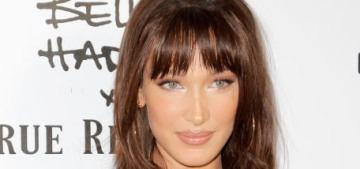 """Bella Hadid's clip-in bangs change her whole look, and it's not bad"" links"