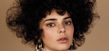 Did Vogue Magazine really style Kendall Jenner with a big afro or nah?