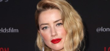 Amber Heard fulfilled her obligations, wore Elie Saab to the 'London Fields' premiere