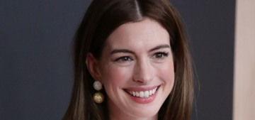 Anne Hathaway in a Valentino sack dress at the Hollywood Film Awards: sort of cute?