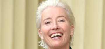 Emma Thompson was dame'd by Prince William, whom she tried to snog mid-ceremony